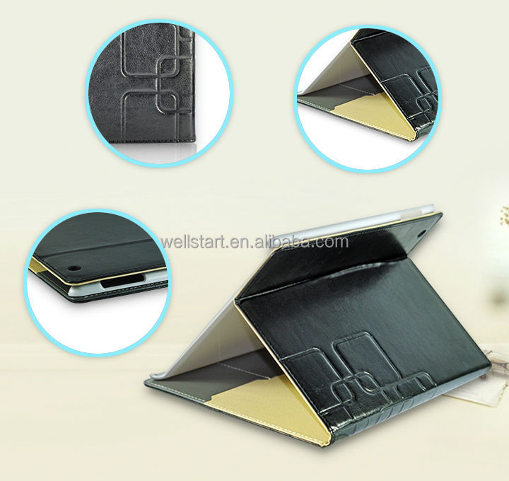 2014 New Coming Flip Pattern PU Leather Tablet Case For iPad2/3/4