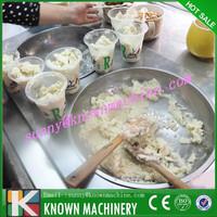 Newly icecream making machine double pans fried ice cream machine