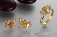 druzy jewellery druzy ring vintage raw crystal leg rings