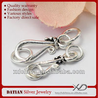 XD P112 15.5mm 925 sterling silver findings hook and eye clasps filigree jewelry findings