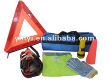 YYS12032 7-Piece Practical warning triangle car safety tools kit