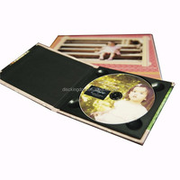 China custom CD sleeves recycle plastic CD cover write and wipe book printing