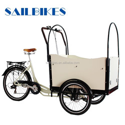 chinese electric front loafing cargo bicycle jx-t05 for carring baby