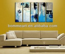 Decorative High quality hand-painted abstract group painting Modern famous abstract art paintings CJX2013073