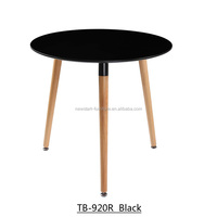 home Furniture black lacquer top three legs wooden round table
