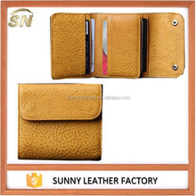 Genuine leather men's money clip wallets with credit card slots