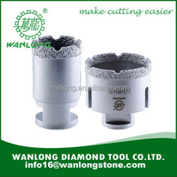 Vacuum brazed core drill bits for marble drilling-wanlong brazed core bit