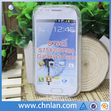 New arrival soft rubber s curve tpu skin case cover for Samsung galaxy s duos 2 s7582