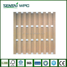Weather resistant decorative wooden garden fencing