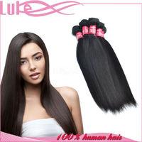 Wholesale Overseas 100% Unprocessed Virgin Remy Human Hair 6A Grade Brazilian Straight Hair