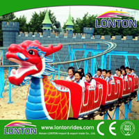 2015 hot high quality funfair outdoor games rides family rides sliding dragon coaster for sale