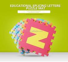 EVA alphabet preschoolers learning mats