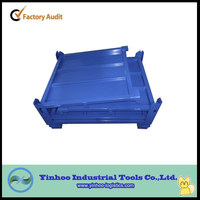 2014 new style high quality heavy duty foldable steel pallet box container