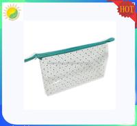 Wholesale Durable Plastic Clear Vinyl PVC Zipper Cosmetic Bag Carrying Tote Travel Case