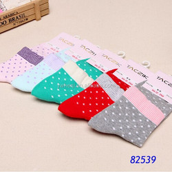 100% cotton small dot fashion design wholesale relax socks for pretty girls
