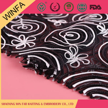 Shaoxing supplier Comfortable polyester wedding embroidery lace fabric