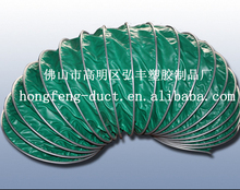 Portable fan is designed with PVC cloth air hose clamp network