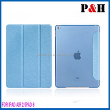 for iPad Air 2 Protective Leather Case, Side Flip Stand TPU+PU Leather Cover Case for iPad Air 2 / iPad 6 with Elastic Belt
