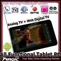 7 inch 3G phones with built in fm transmitter and TV GPS