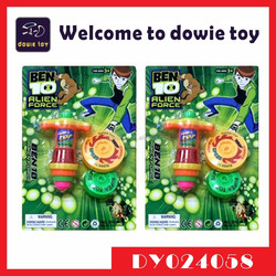 Hot Kids Plastic Spinning Top Ben 10 Toy promotional gift Spiral Spin Top Toys