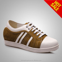 Men skate shoes with height increasing sport shoes fashion leather best price wholesale