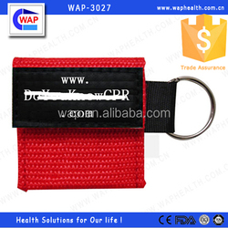 WAP-health custom-made protable one-way valve cpr mask for hot-sale
