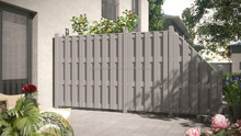 Easy Building Beautiful Portable Patio Fence