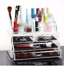 Acrylic drawer box makeup organizers
