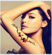 Fashion New products 2015 custom beauty body tattoos colorful temporary flower of life tattoo stickers