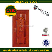 Multi Panel wood door with carving