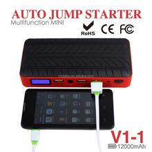 car emergency kit ! 12000mah universal car jump starter portable V1-1 Power Bank