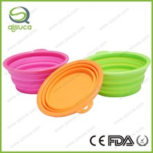 Portable travel folding retractable high quality silicone pet bowl silicone dog bowl