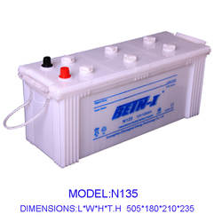 12V135AH starting dry charge high quality dry charged car battery N135