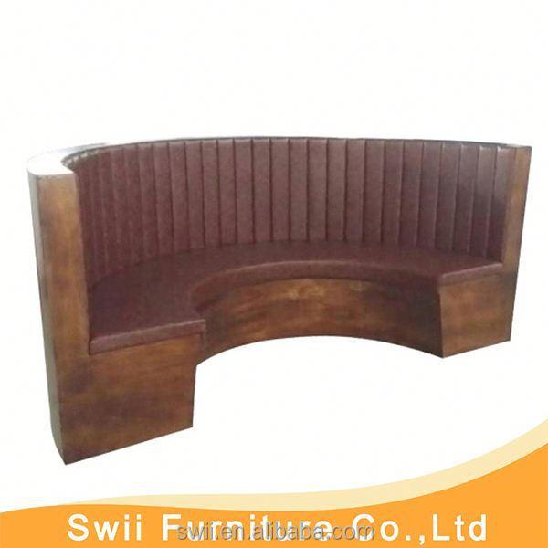 Restaurant Furniture Wholesale Leather Restaurant Sofa
