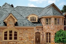 Natural and beautiful green slate roof tiles