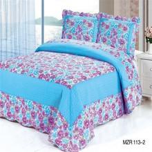 Elegant embroidery design leather bedspreads