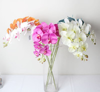 High quality wholesale artificial flowers silk fabric orchid flowers in bangkok