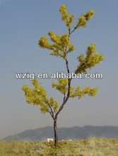 180mm Iron wire yellow trees model Mini metal model yellow sponge trees model train layout builiding