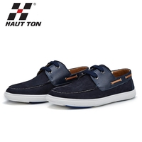 Guangzhou OEM fashion casual shoes blue color leather men shoes upper