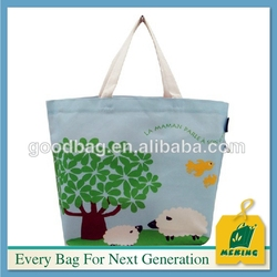 wholesale recyclable and organic shopping tote bag in high quality
