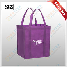 friendly shopping handle art nonwoven bag/foldable nonwoven tote bags/fold the total kraft nonwoven bag