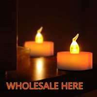 360pcs/lot yellow flicer wedding led wax candle,tea light candle hot new products,paraffin wax Battery Operated LED Tea Lights,