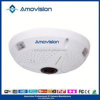 Onvif P2P Indoor Fish Eye IP Camera 3MP Fisheye IP Camera 360 Degrees Full View Camera