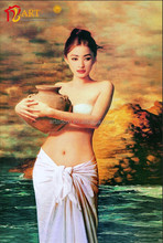 Modern wall decoration nude sexy girls female body photos oil painting 30x50cm