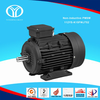 Permanent Magnet Synchronous Motor .PMSM with IE4 super premium effiency for Textile Machinery. Power 7.5kW Speed 1500r/min