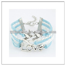 Latest love bird and infinity charm bracelet