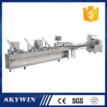 One lane 3+2 automatic biscuit sandwich production line with packaging machine