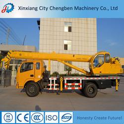 China truck mounted telescopic boom crane manufacturer