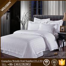 Factory wholesale 100% cotton 3cm striped hotel bedding set bed linen sheet Sets