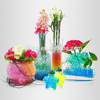DIHAO Beautiful rainbow crystal mud for planting/wedding favor vase decoration
